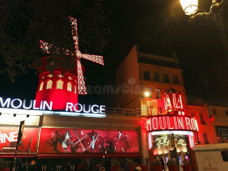Moulin szminki kabaret zdjęcia royalty free