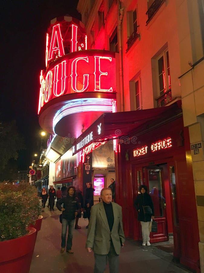 Moulin szminki kabaret zdjęcie stock