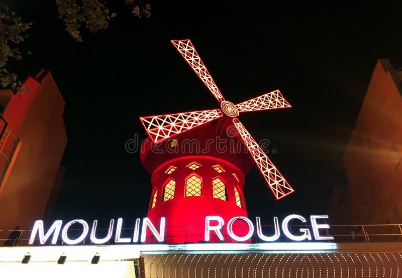 Moulin szminki kabaret obrazy stock