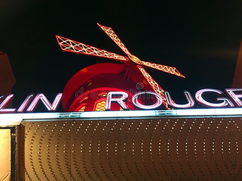 Moulin szminki kabaret zdjęcie royalty free