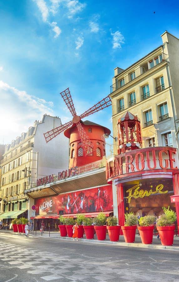 Moulin szminki kabaret, Paryż obraz stock
