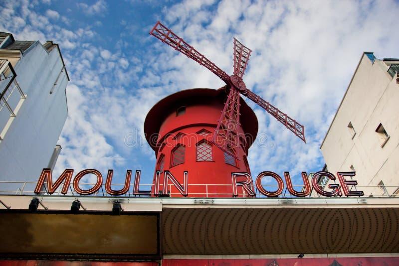 Moulin szminki kabaret. Paryż, Francja. zdjęcie royalty free