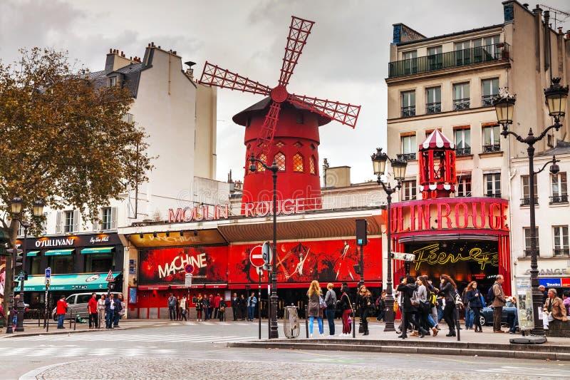 Moulin szminki kabaret w Paryż fotografia stock