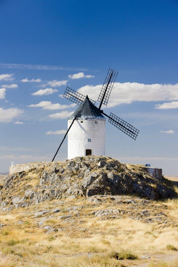 Moulin ? vent, Consuegra, Castille-La Manche, Espagne photos libres de droits