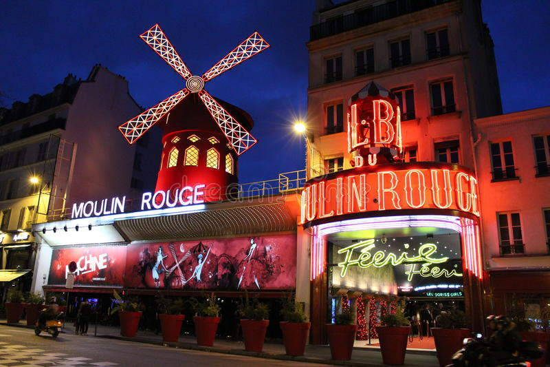 Moulinrouge van Parijs royalty-vrije stock afbeeldingen
