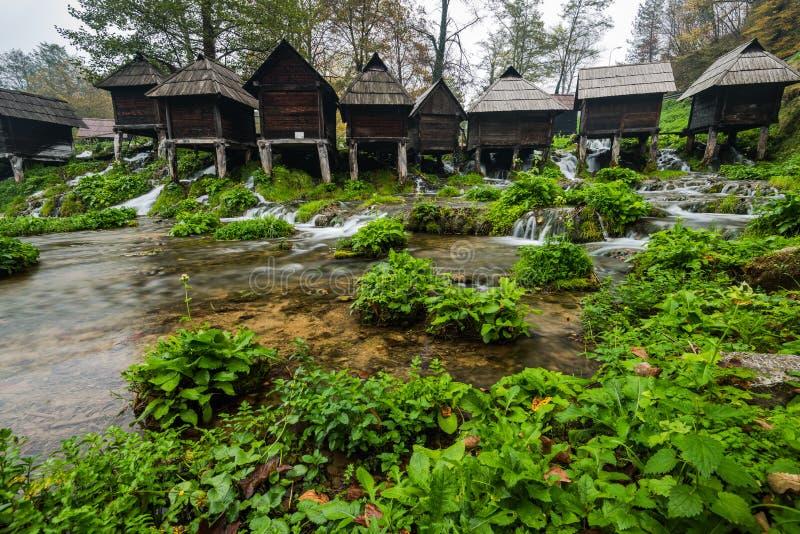Moulins à eau de Jajce, Bosnie-Herzégovine photo stock