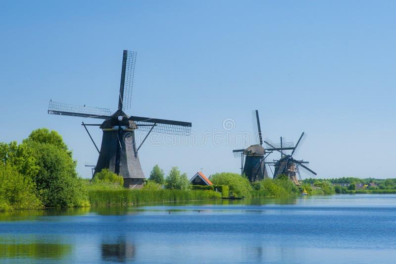 Moulins à vent 3 de Kinderdijk photographie stock libre de droits