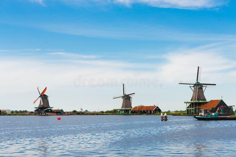 Moulins à vent du Zaanse Schans images stock