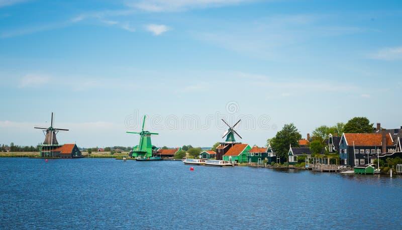 Moulins à vent du Zaanse Schans photographie stock