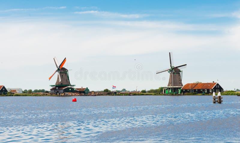 Moulins à vent du Zaanse Schans photographie stock libre de droits