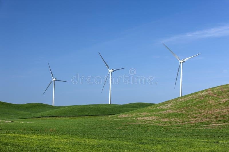 Moulins de vent sur le Palouse photos stock