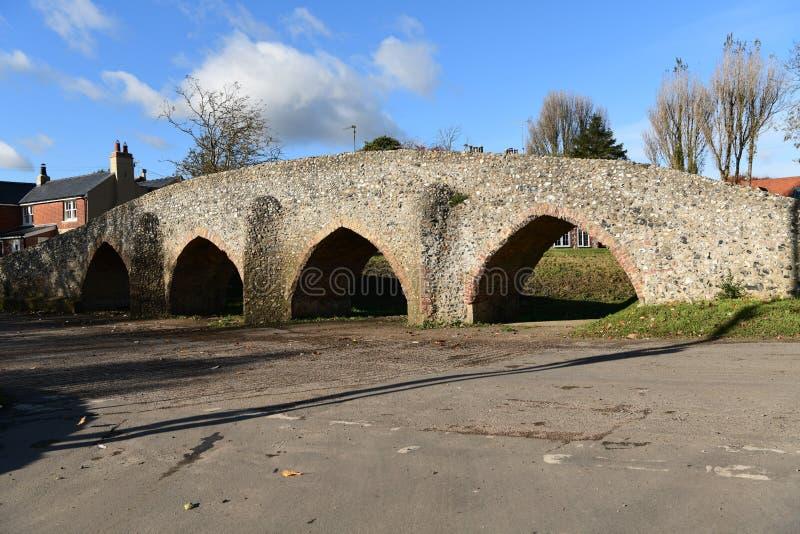 Moulton, ponte velha romana BRITÂNICA imagem de stock royalty free