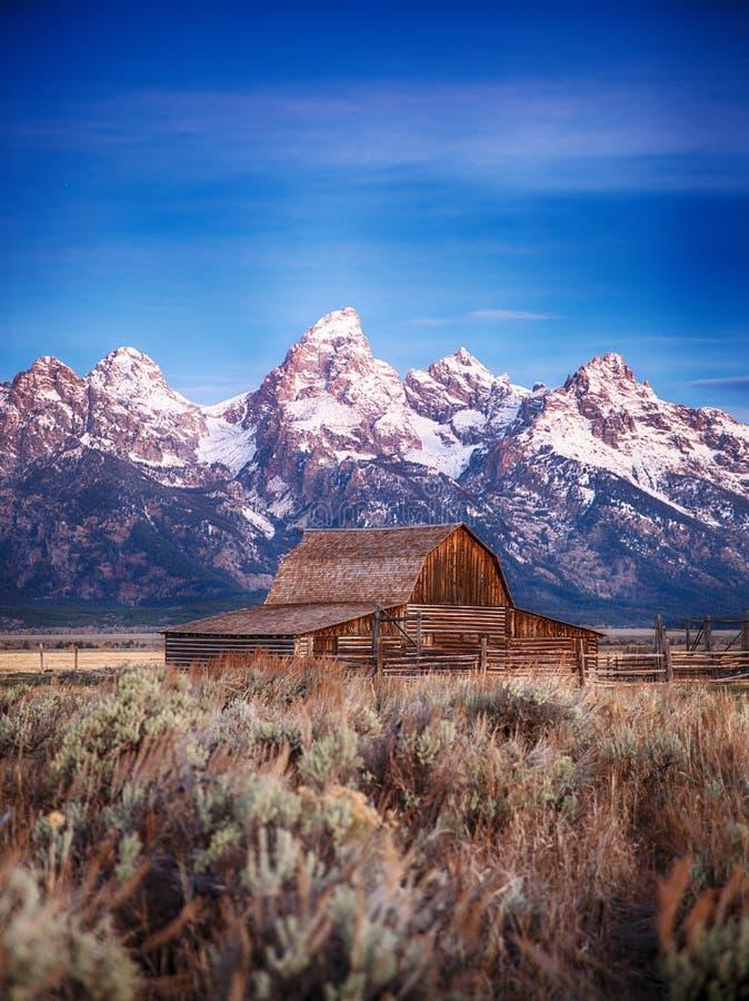 Moulton stajnia Uroczysty Teton, Wyoming obrazy royalty free