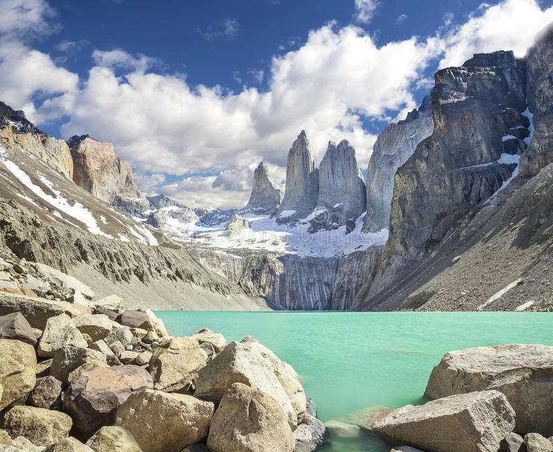 Mounatains de Torres del Paine, Chili photos stock