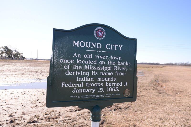 Mound City History West Memphis Arkansas royalty free stock photo