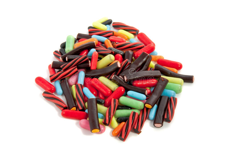 A mound colorful candy royalty free stock photos