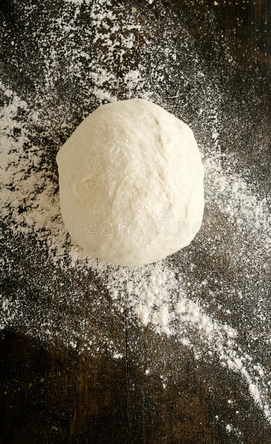 Mound of freshly made dough left to stand royalty free stock photo