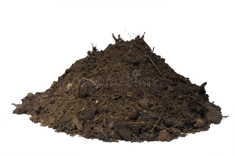 Mound of soil isolated royalty free stock image