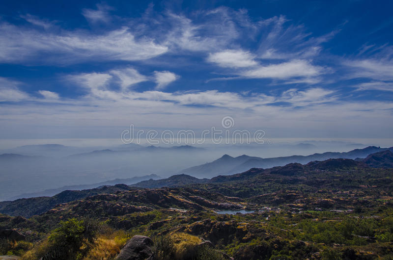 Mount Abu - landscape. Mount Abu is a hill station in western India's Rajasthan state, near the Gujarat border. Set on a high rocky plateau in the Aravalli royalty free stock photo