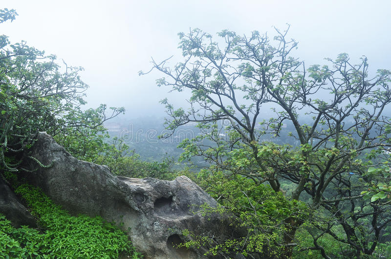 Mount abu in monsoon. View of the Mount abu India hills during monsoon stock image