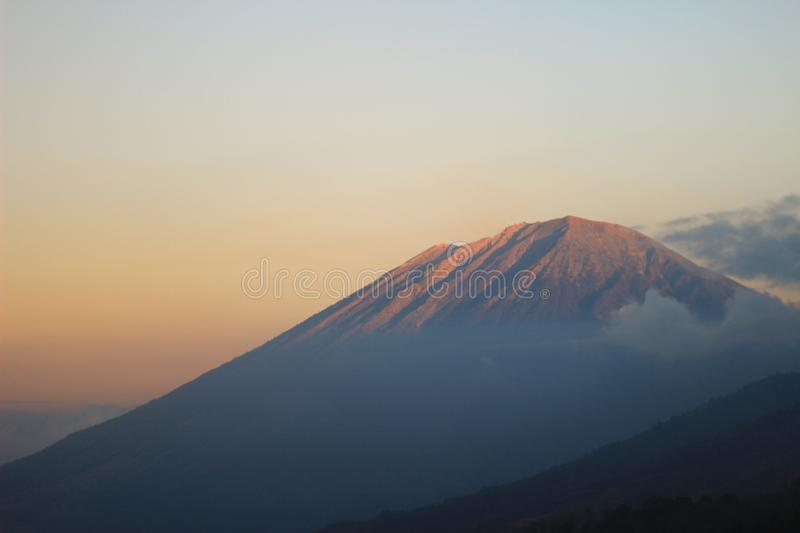 Mount Agung, Bali, Indonesia. Sunset in Mount Agung Bali, Indonesia royalty free stock photography