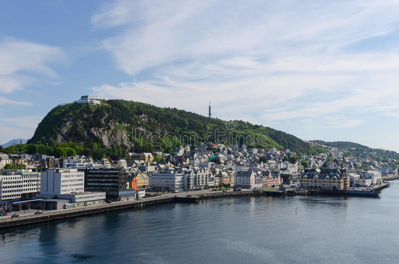 Mount Aksla. View of the mount Aksla in the city of Alesund. Norway royalty free stock image