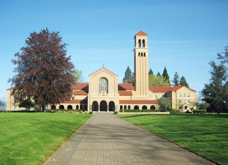 The famous Mount Angel Abbey royalty free stock photography