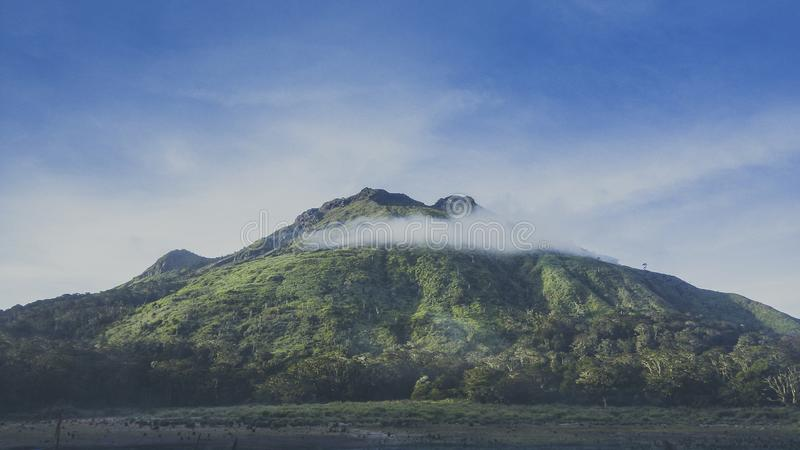 Mount Apo, Philippines Highest Mountain. Mount Apo, active volcano, south central Mindanao, 20 miles 32 km west of Davao City; it is the highest point in the stock images
