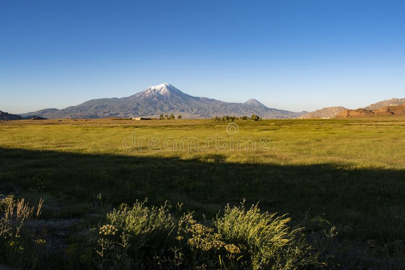 Mount Ararat, Agri Dagi, mountain, volcano, Igdir, Turkey, Middle East, nature, landscape, aerial view, Noah, Ark. Igdir, Turkey, Middle East: breathtaking view stock photography