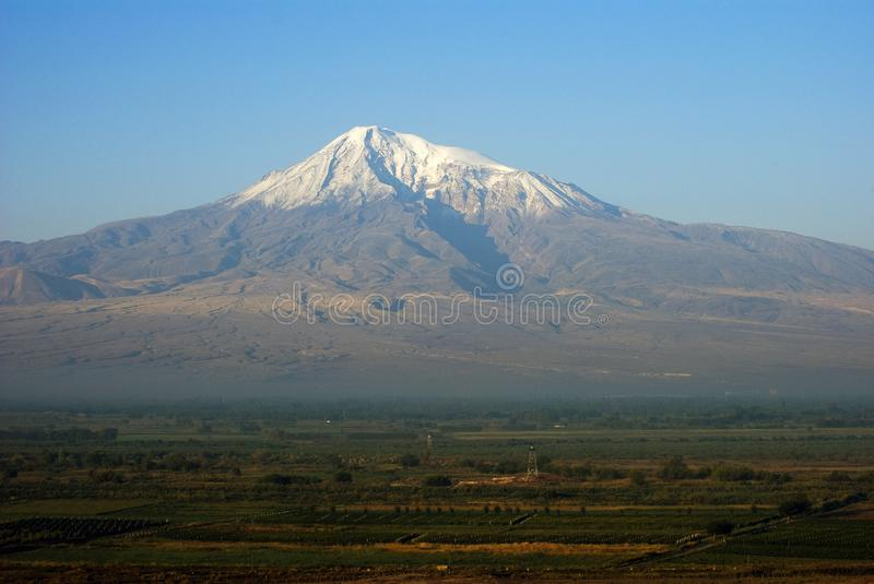 Mount Ararat, view from Armenia. Mount Ararat Masis, view from Armenia stock photos