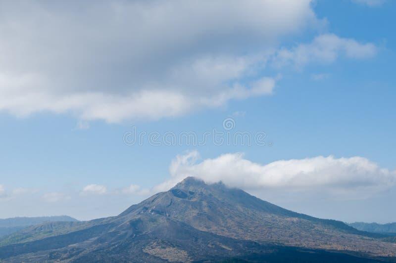Mount Argung volcano preparing to erupt scene in Bali Indonesia. Mount Agung volcano preparing to erupt scene in Bali Indonesia. Many flights are suspended to stock image