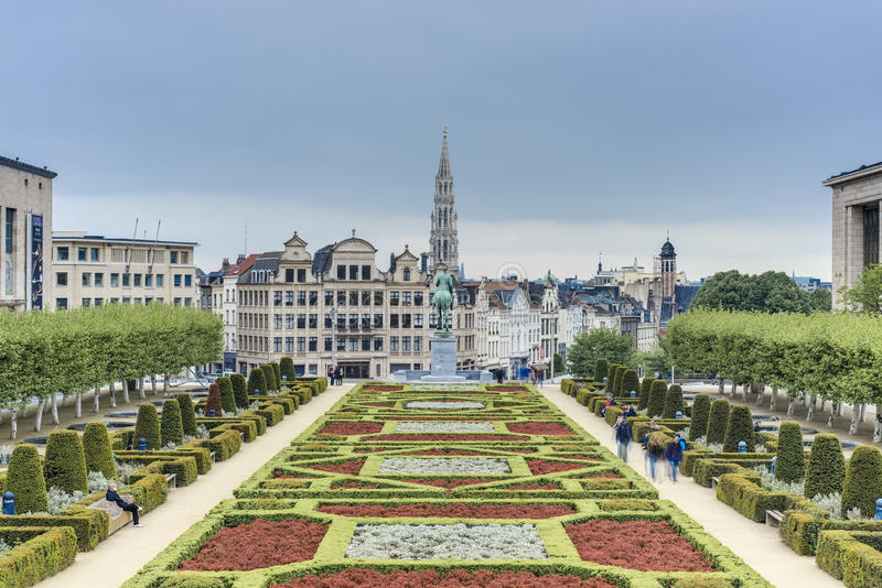 The Mount of the Arts in Brussels, Belgium. royalty free stock photography