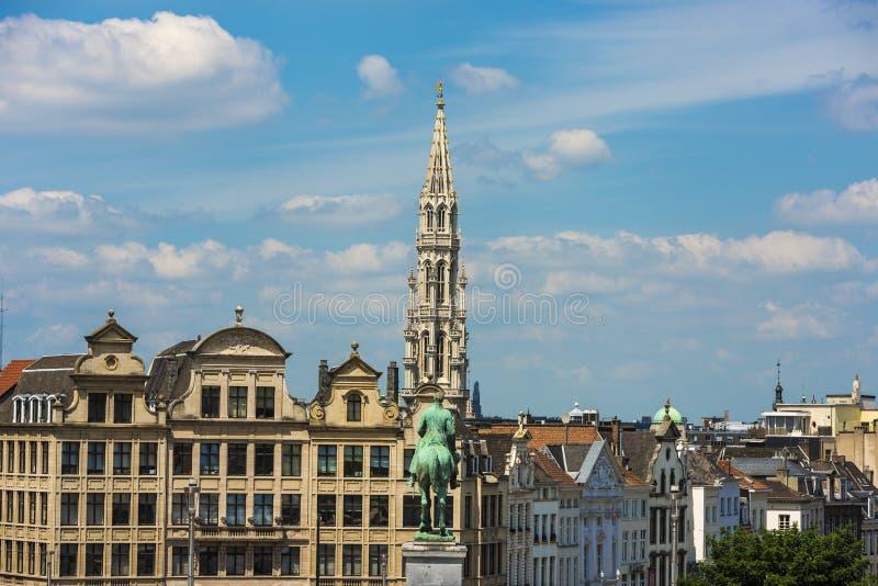 Mount of the Arts in Brussels, Belgium. stock photos
