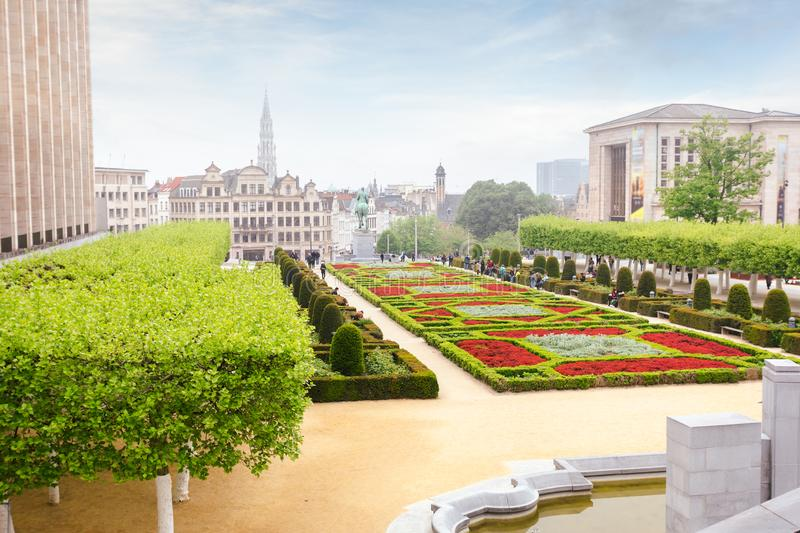 Mount of Arts in Brussels, Belgium royalty free stock image