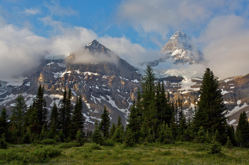 Download Mount Assiniboine And Morning Clouds Stock Image - Image: 15903779