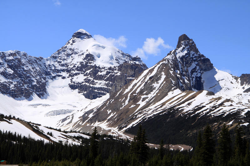 Mount Athabasca stock images