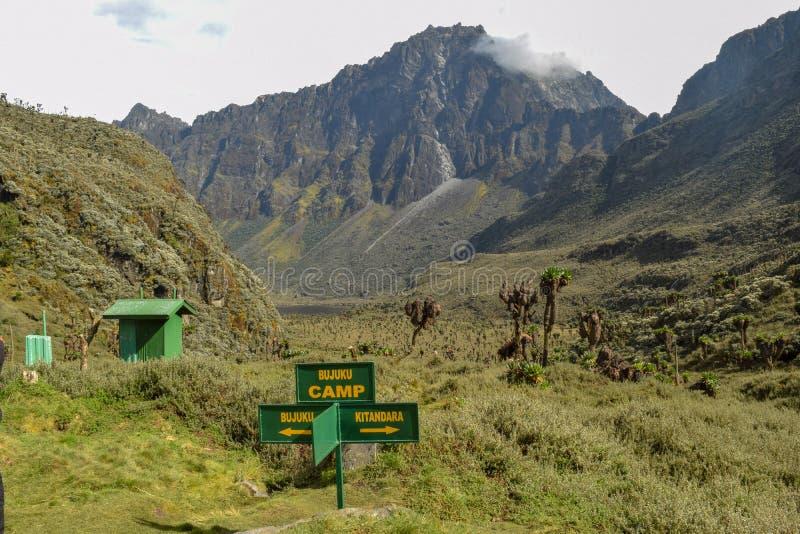 Mount Baker in the Rwenzori Mountains, Uganda. Mount Baker seen from the Upper Bujuku Valley, Rwenzori Mountains National Park, Kasese District, Uganda royalty free stock photography