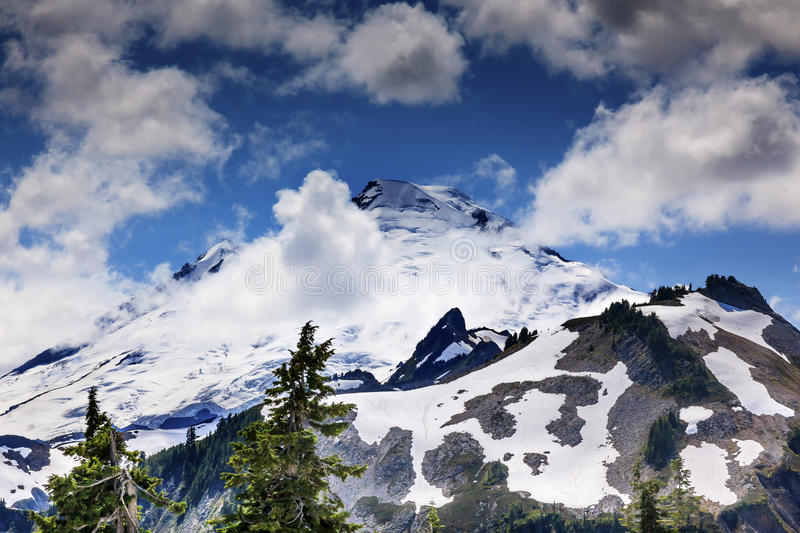 Mount Baker Under Clouds from Artist Point Washington State. Mount Baker Under Clouds from Artist Point Mount Baker Highway Snow Mountain Washington State stock photos
