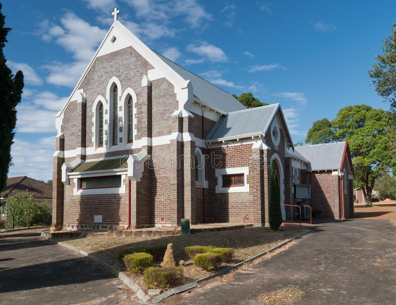 Mount Barker, Western Australia. All Saints Church, famous place of Mount Barker, Western Australia stock photos