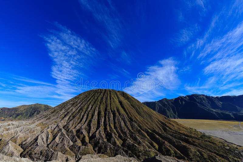 Mount Batok under Blue Sky royalty free stock images