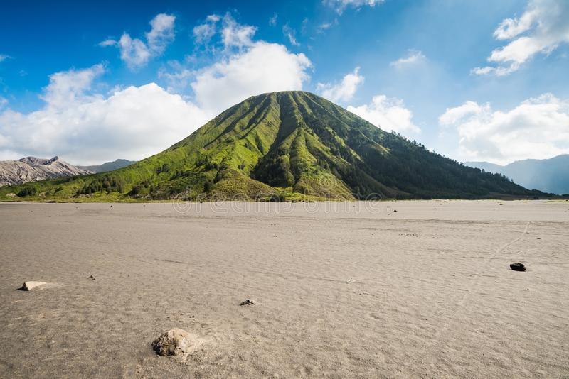 Mount Batok volcano in Bromo Tengger Semeru National Park. East Java, Indonesia stock photo