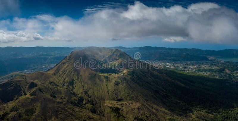 Mount Batur, Gunung Batur, Kintamani Volcano in Bali royalty free stock photos
