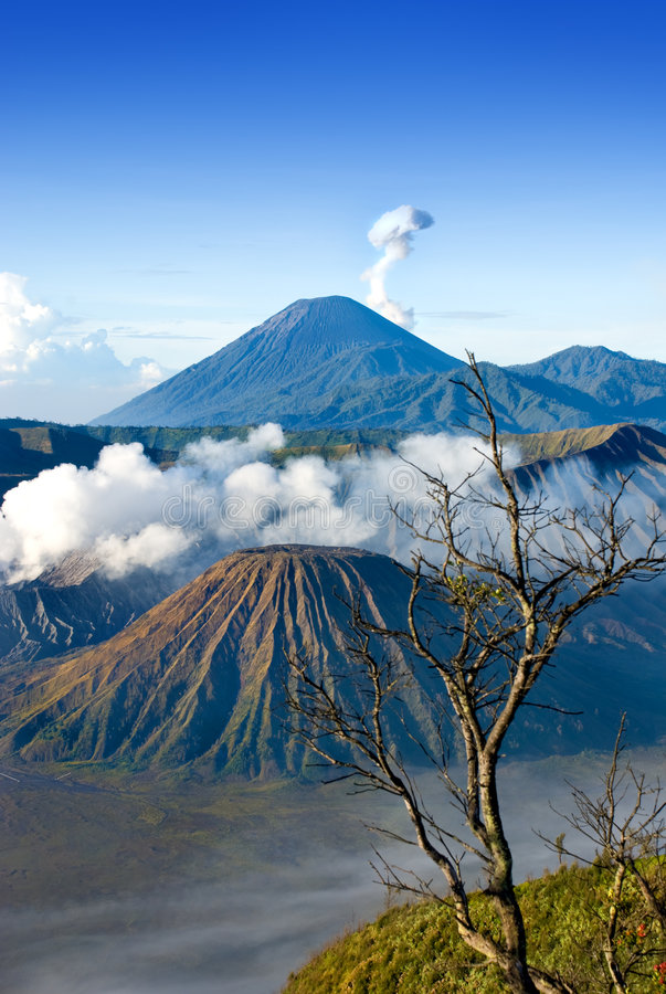 Mount Bromo. Located in Tengger Caldera, East Java Indonesia royalty free stock photography