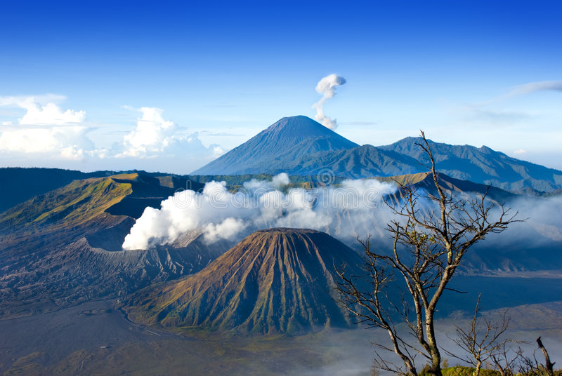 Mount Bromo. Located in Tengger Caldera, East Java Indonesia royalty free stock photo