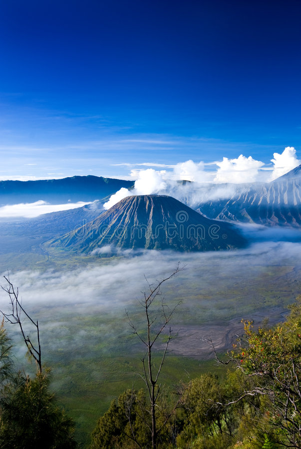 Mount Bromo. Taken in East Java, Indonesia royalty free stock images