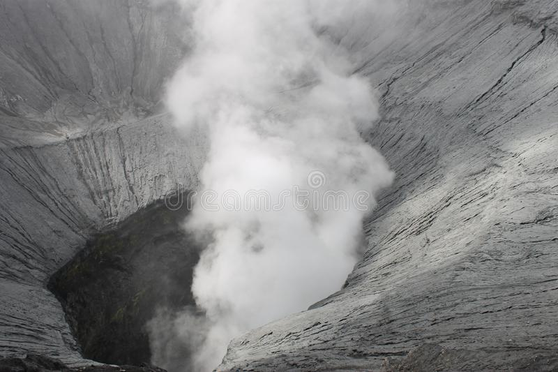 Mount Bromo crater is seen from above tourist attractions that can be accessed by visitors. stock photography