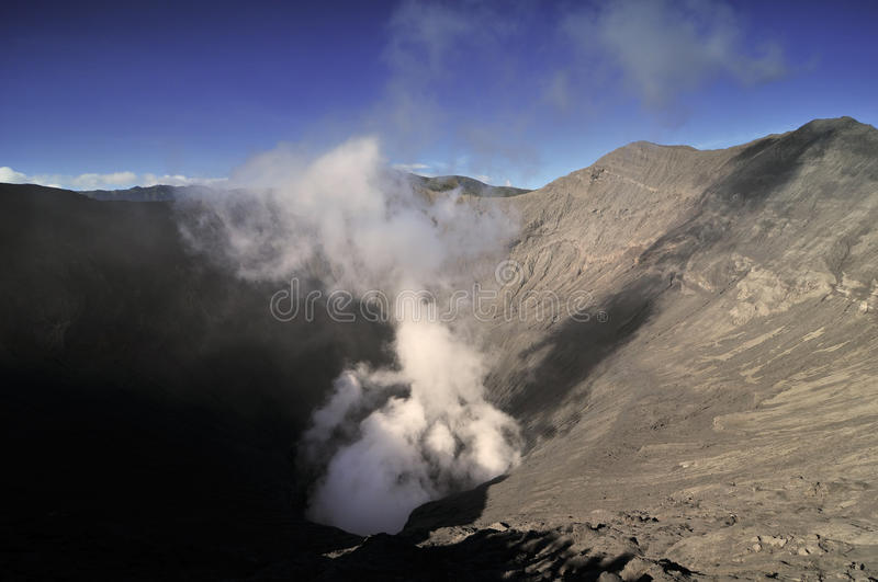 Mount Bromo crater royalty free stock photo