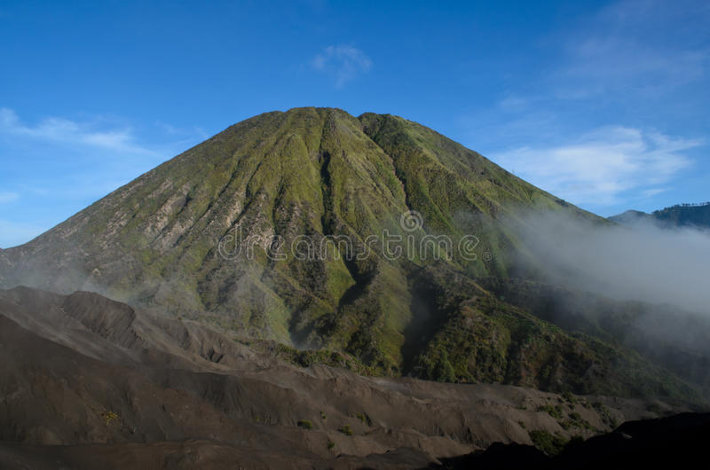Mount Bromo and Mount Batok royalty free stock photos