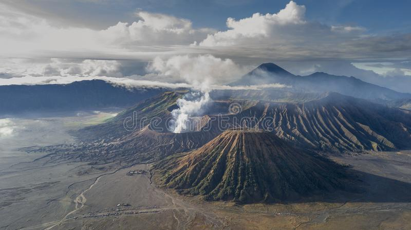 Mount Bromo Tengger Semeru located in Malang Lumajang Pasuruan Probolinggo East Java Indonesia. This is Mount Bromo Tengger Semeru located in Malang Lumajang stock photography