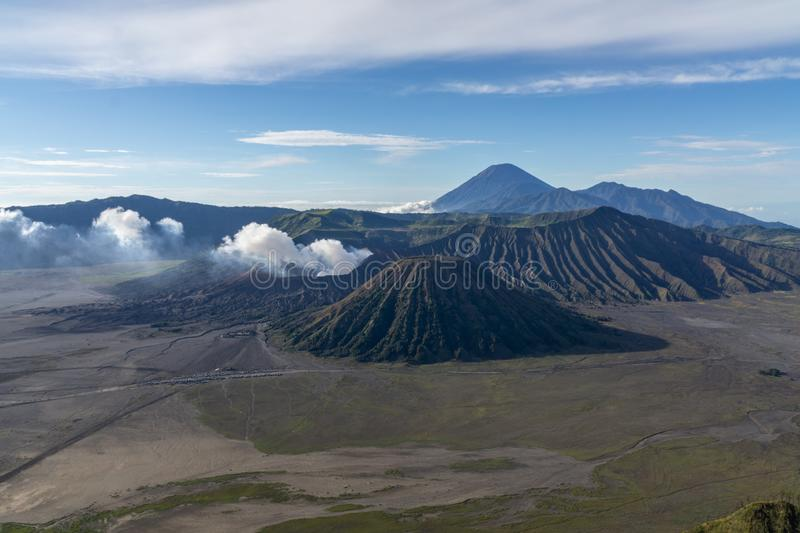 Mount Bromo Tengger Semeru located in Malang Lumajang Pasuruan Probolinggo East Java Indonesia. This is Mount Bromo Tengger Semeru located in Malang Lumajang royalty free stock image